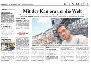 Bericht über meine Arbeit in der Neuss-Grevenbroicher Zeitung vom 25.11.2010