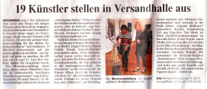 Bericht über die Gemeinschaftsausstellung in der Versandhalle in der Neuss-Grevenbroicher Zeitung vom 14.06.2012