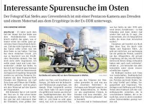 Artikel in der Mitteldeutschen Zeitung